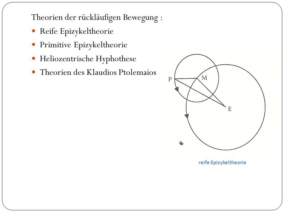 Theorien der rückläufigen Bewegung : Reife Epizykeltheorie