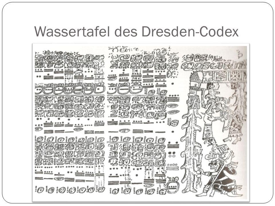 Wassertafel des Dresden-Codex