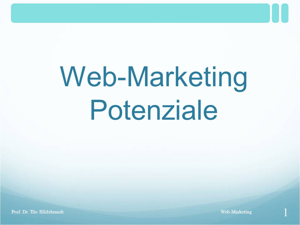 Web-Marketing Potenziale