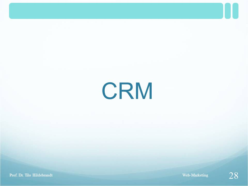 CRM Prof. Dr. Tilo Hildebrandt Web-Marketing