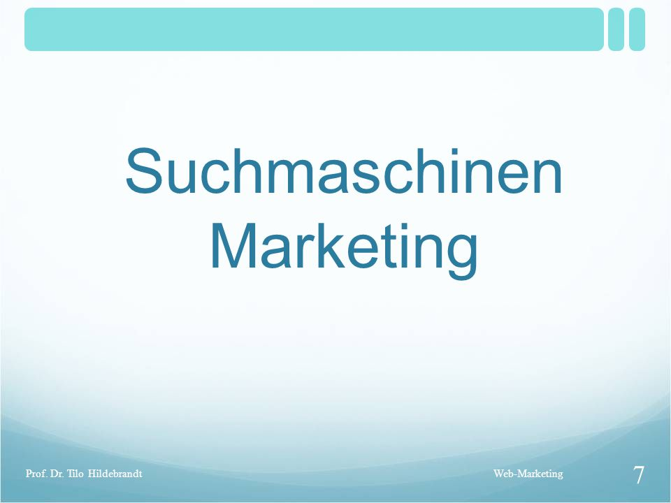 Suchmaschinen Marketing