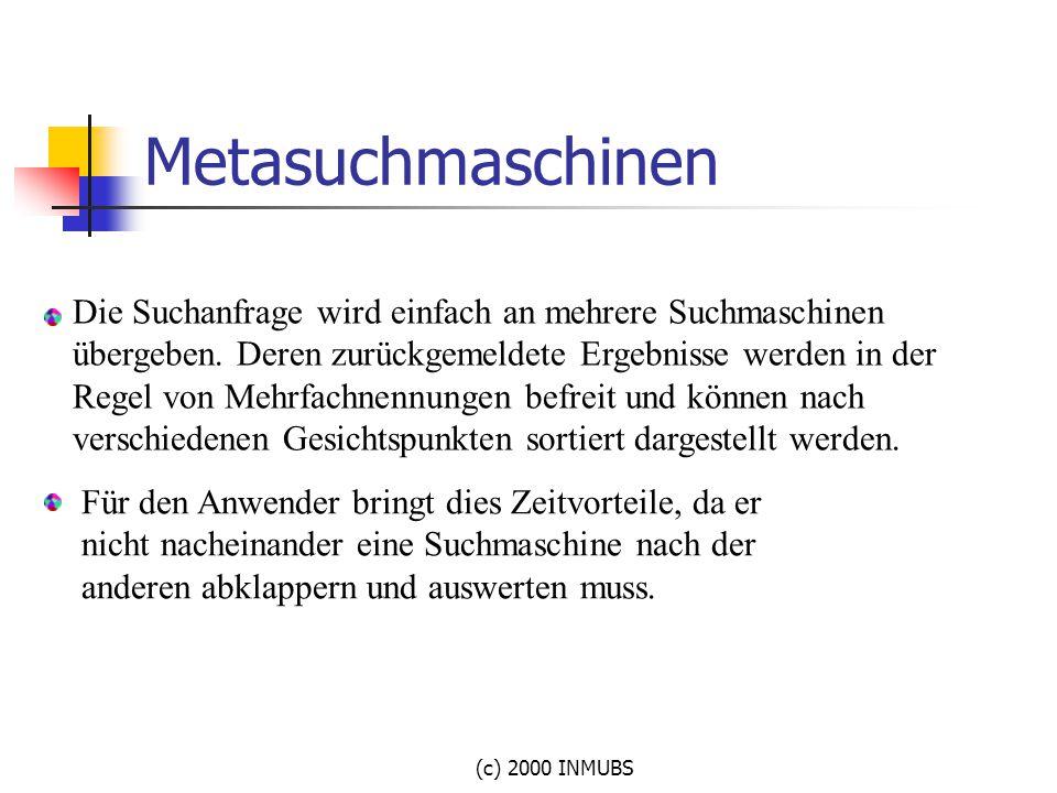 Metasuchmaschinen