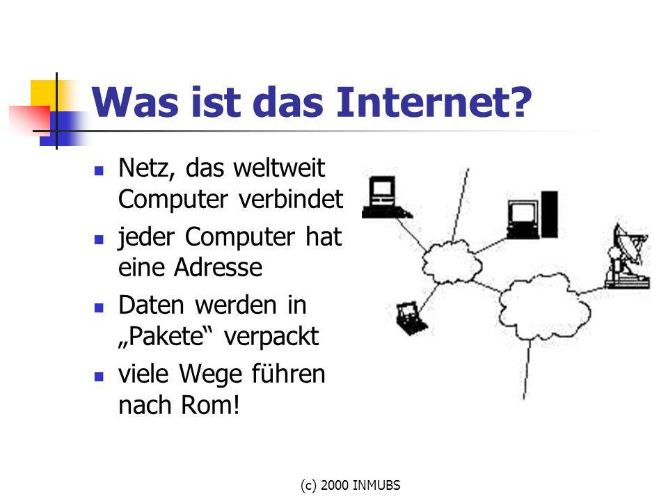 Was ist das Internet Netz, das weltweit Computer verbindet