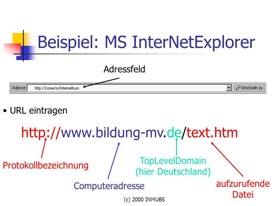 Beispiel: MS InterNetExplorer