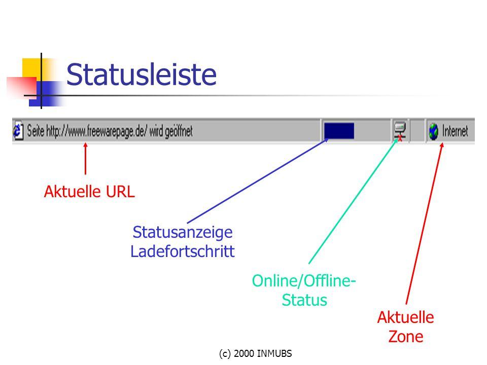 Statusleiste Aktuelle URL Statusanzeige Ladefortschritt