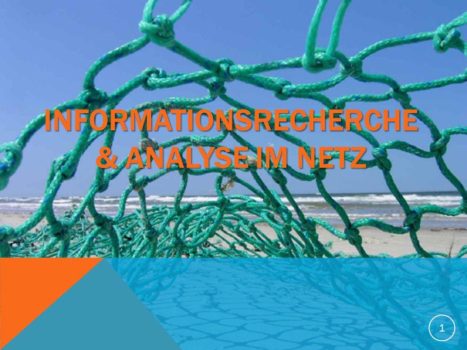 Informationsrecherche & Analyse im Netz
