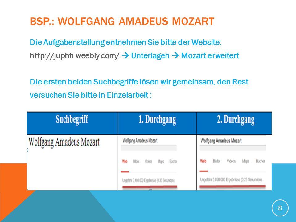 Bsp.: Wolfgang Amadeus Mozart