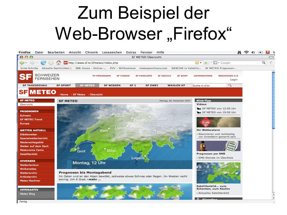"""Zum Beispiel der Web-Browser """"Firefox"""