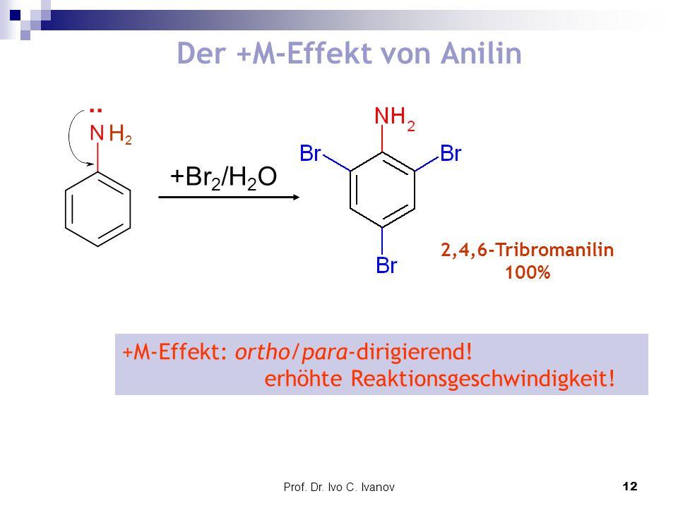 Der +M-Effekt von Anilin
