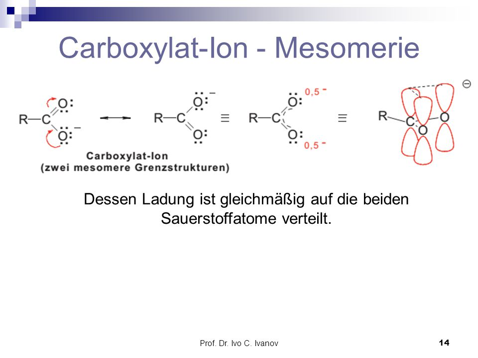 Carboxylat-Ion - Mesomerie