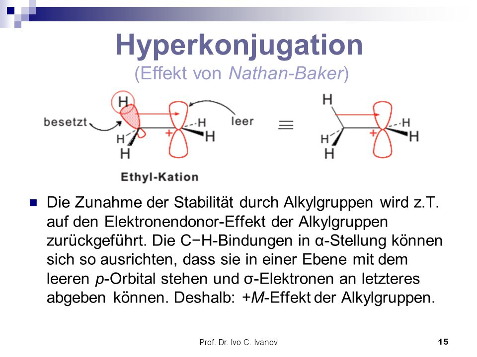 Hyperkonjugation (Effekt von Nathan-Baker)