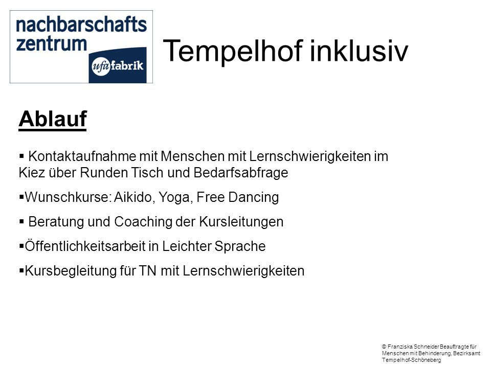 Tempelhof inklusiv Ablauf