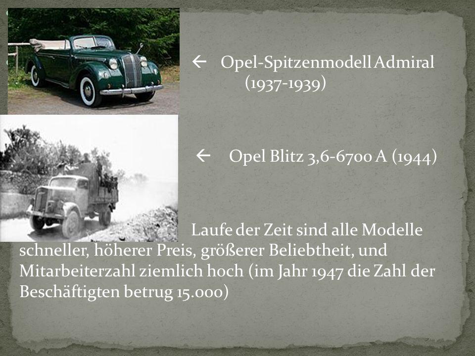  Opel-Spitzenmodell Admiral ( (1937-1939)