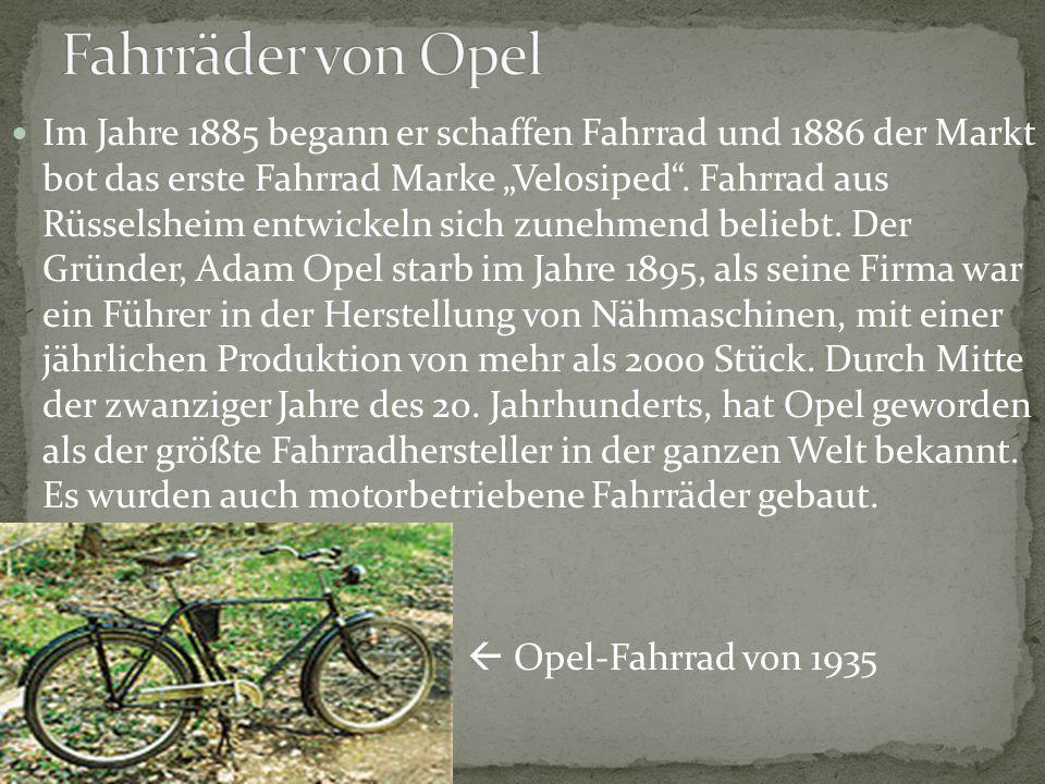 Fahrräder von Opel
