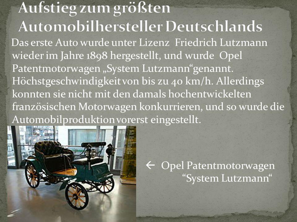 Aufstieg zum größten Automobilhersteller Deutschlands