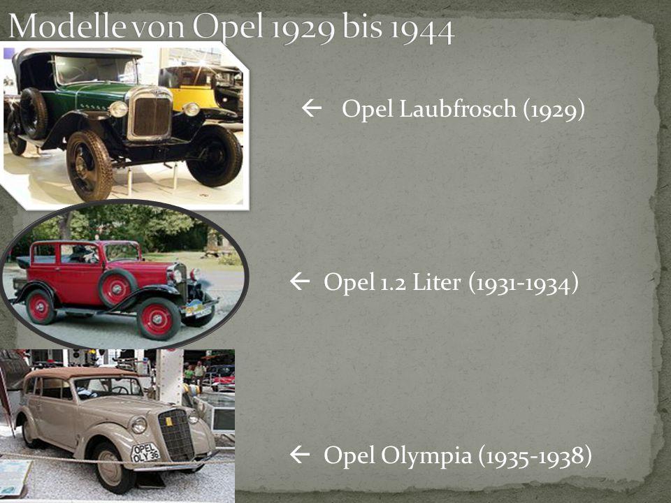 Modelle von Opel 1929 bis 1944  Opel Laubfrosch (1929)
