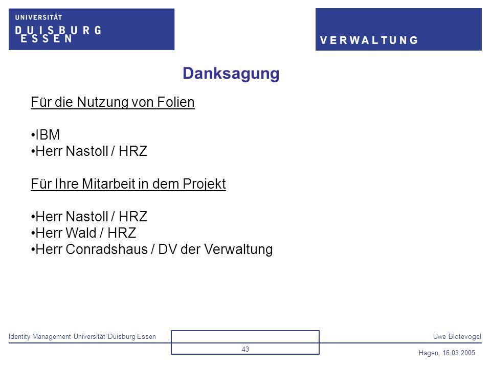 Danksagung Für die Nutzung von Folien IBM Herr Nastoll / HRZ