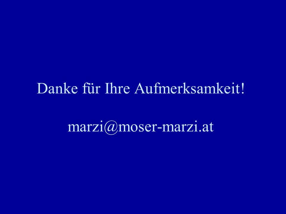 Danke für Ihre Aufmerksamkeit! marzi@moser-marzi.at