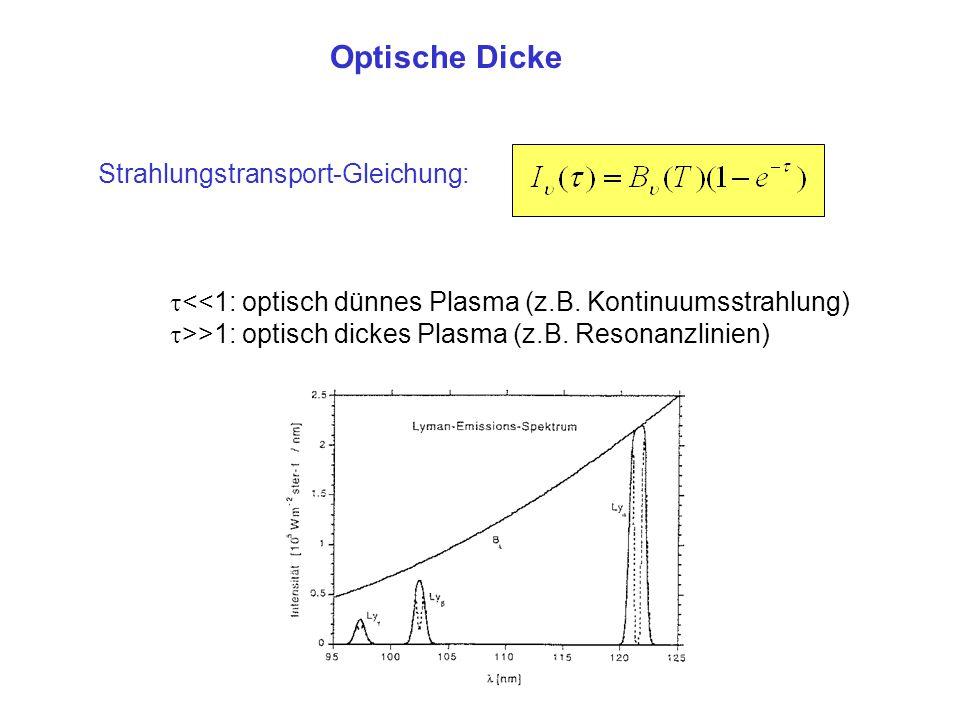 Optische Dicke Strahlungstransport-Gleichung: