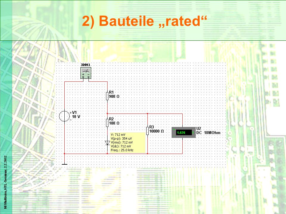 "2) Bauteile ""rated"