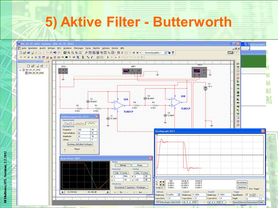 5) Aktive Filter - Butterworth