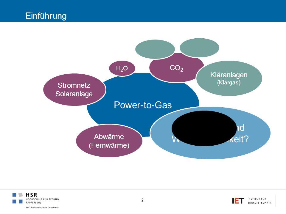 Power-to-Gas Alternativen und Wirtschaftlichkeit Einführung CO2