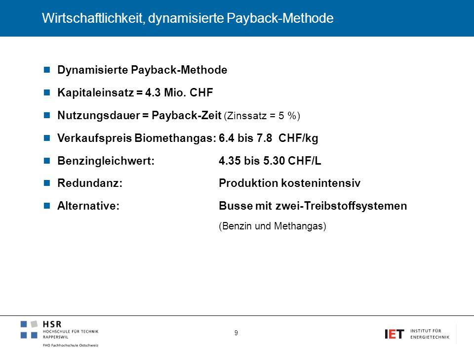 Wirtschaftlichkeit, dynamisierte Payback-Methode
