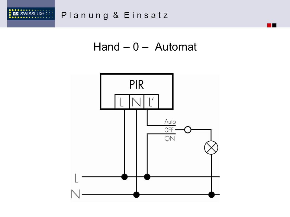 P l a n u n g & E i n s a t z Hand – 0 – Automat
