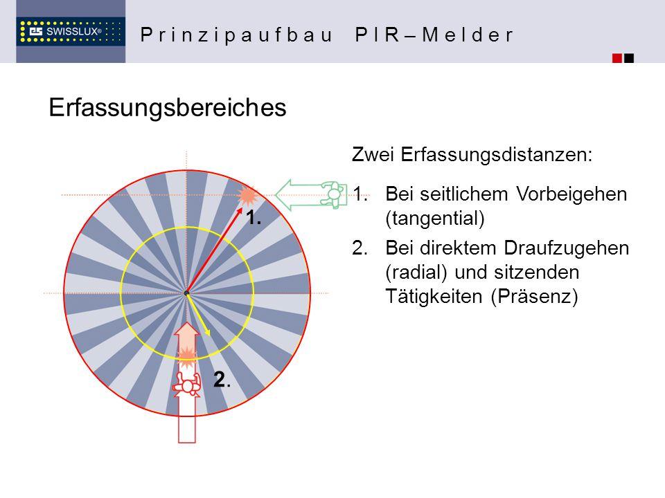 Erfassungsbereiches 2. P r i n z i p a u f b a u P I R – M e l d e r