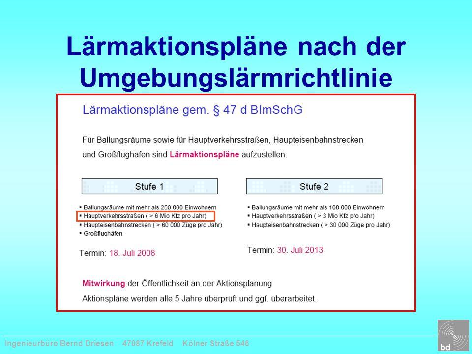 Lärmaktionspläne nach der Umgebungslärmrichtlinie