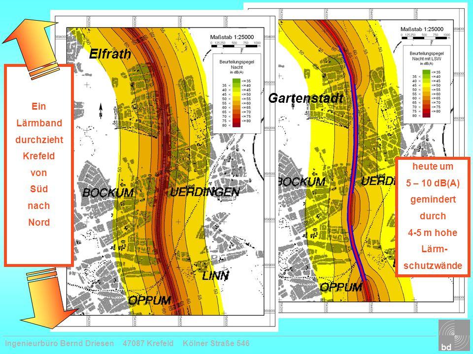 Elfrath Gartenstadt Ein Lärmband durchzieht Krefeld von Süd nach Nord