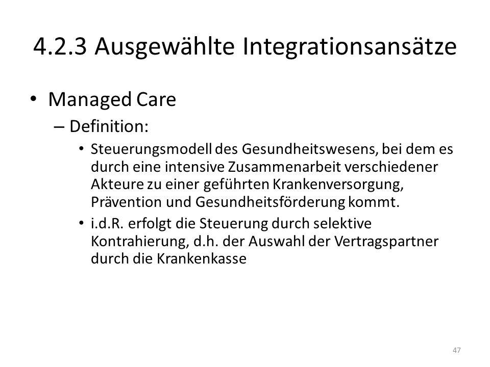 4.2.3 Ausgewählte Integrationsansätze