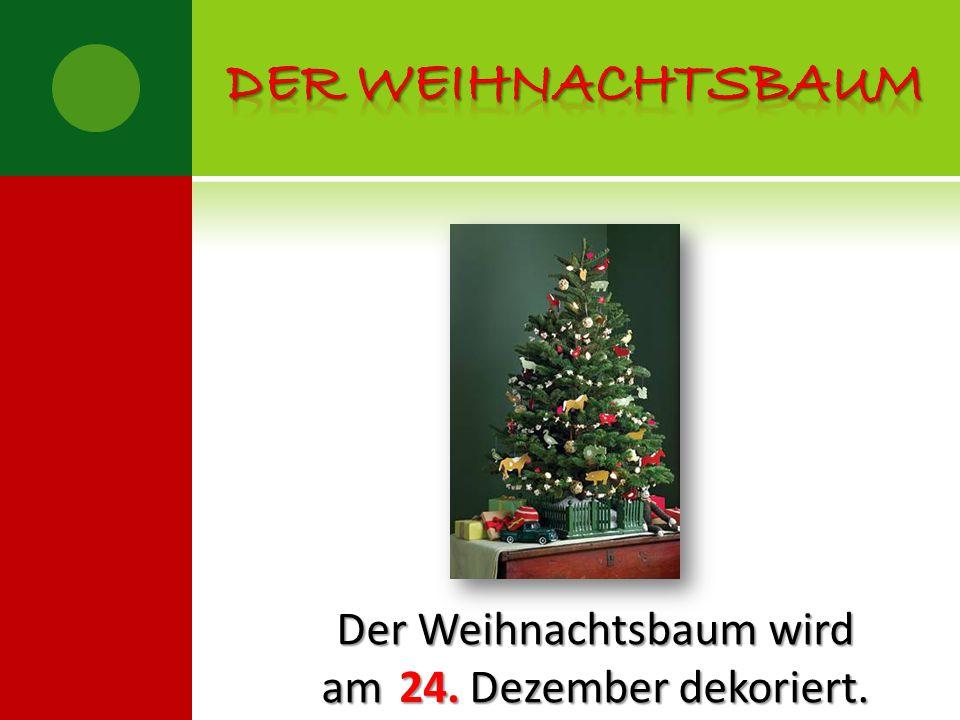 Der Weihnachtsbaum wird