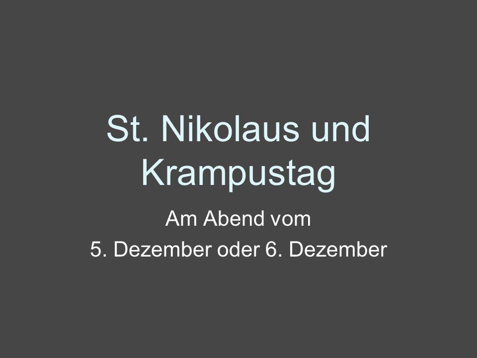 St. Nikolaus und Krampustag
