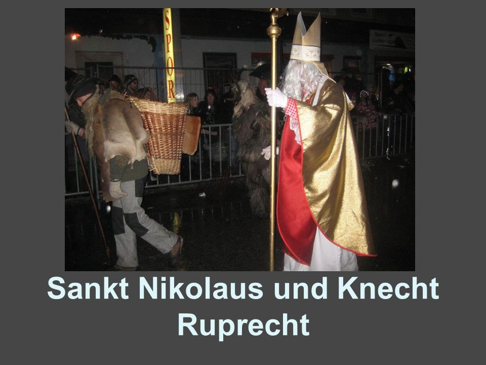 Sankt Nikolaus und Knecht Ruprecht