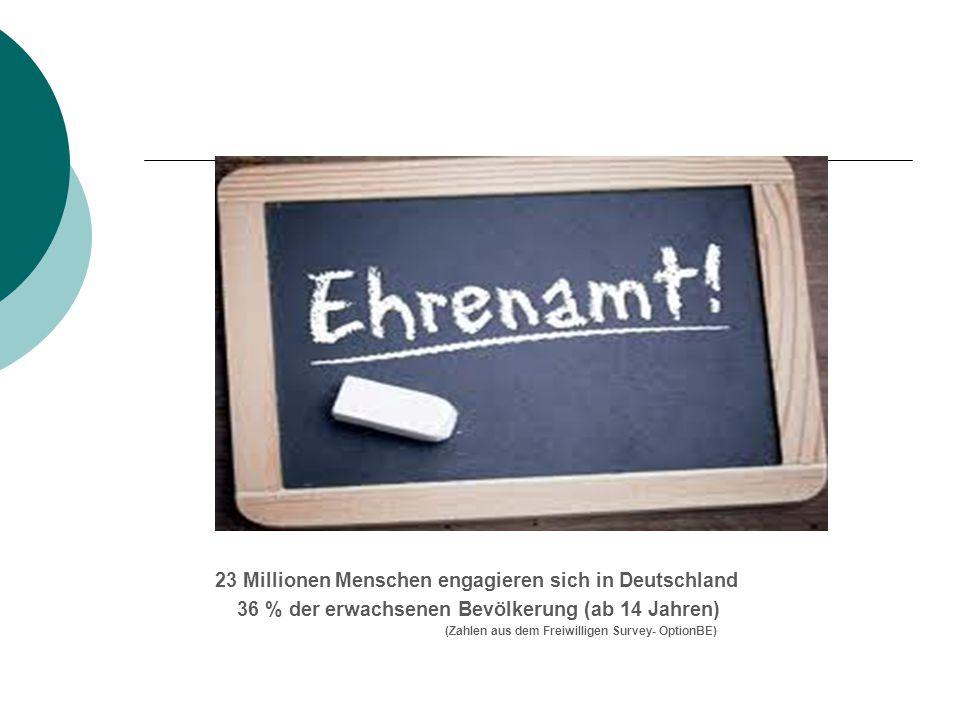23 Millionen Menschen engagieren sich in Deutschland