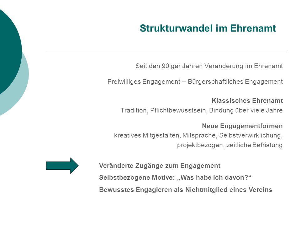 Strukturwandel im Ehrenamt