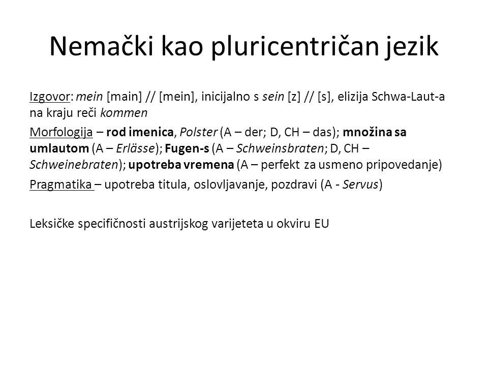 Nemački kao pluricentričan jezik