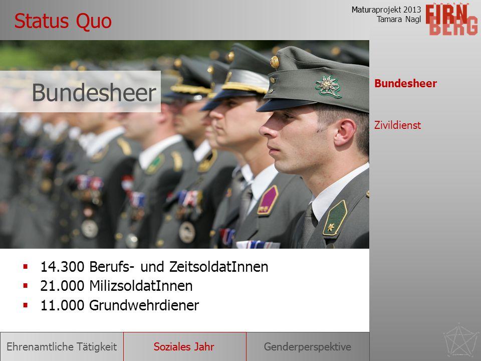 Bundesheer Status Quo 14.300 Berufs- und ZeitsoldatInnen