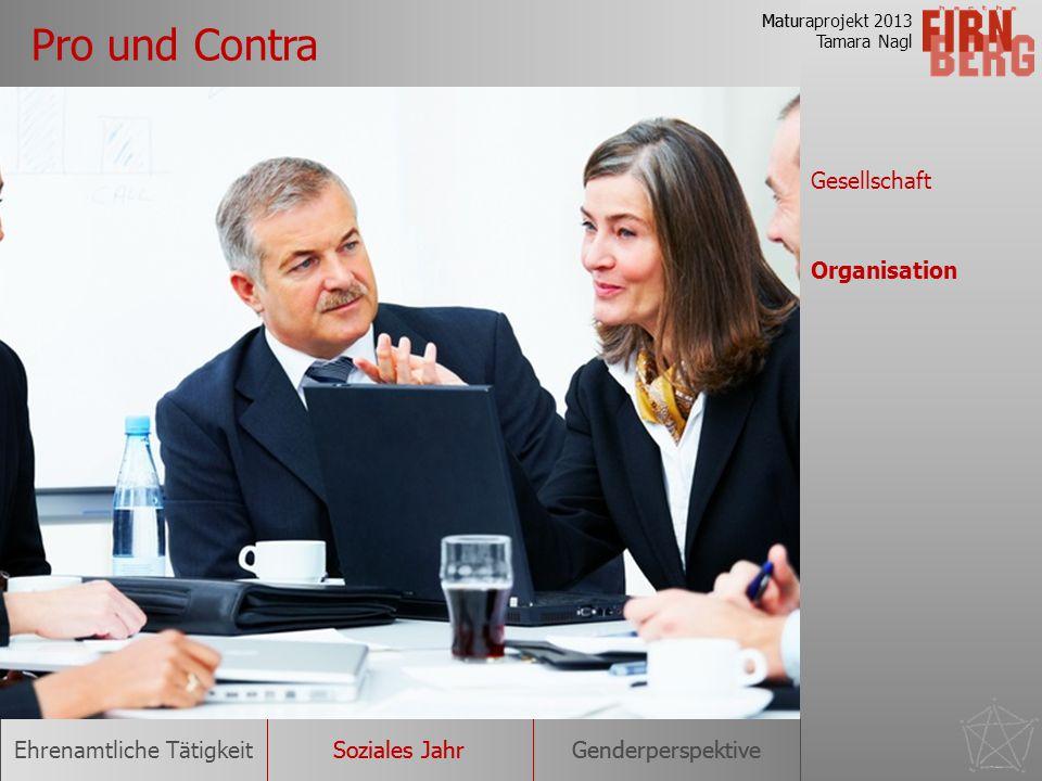 Pro und Contra Gesellschaft Organisation
