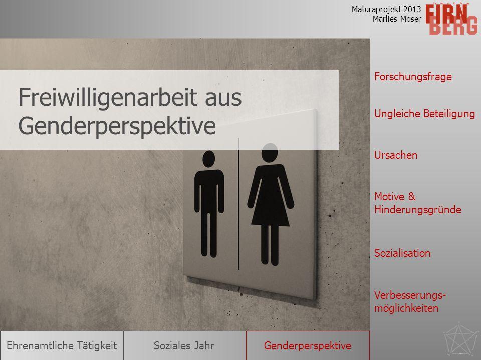 Freiwilligenarbeit aus Genderperspektive