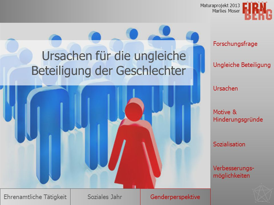 Ursachen für die ungleiche Beteiligung der Geschlechter