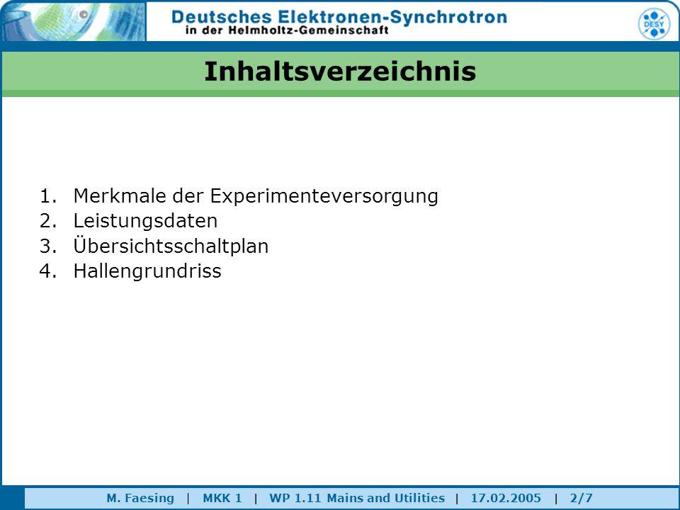 Inhaltsverzeichnis Merkmale der Experimenteversorgung Leistungsdaten