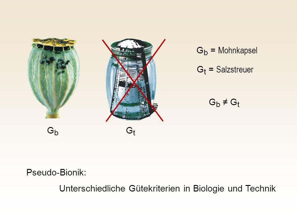 Gb = Mohnkapsel Gt = Salzstreuer. Gb ≠ Gt. Gb.