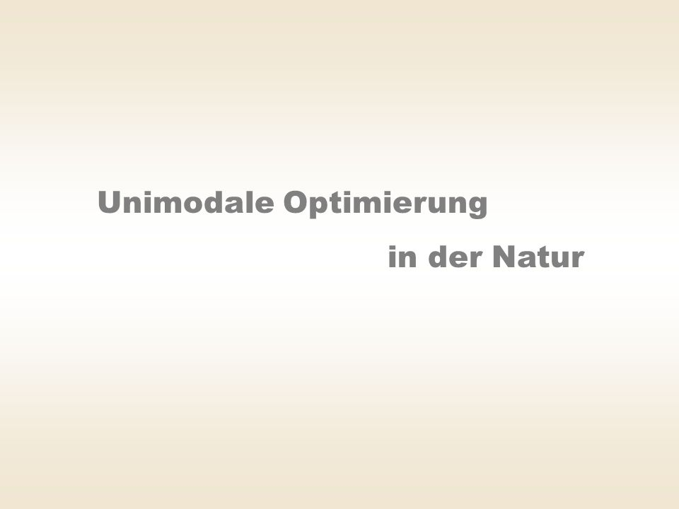 Unimodale Optimierung