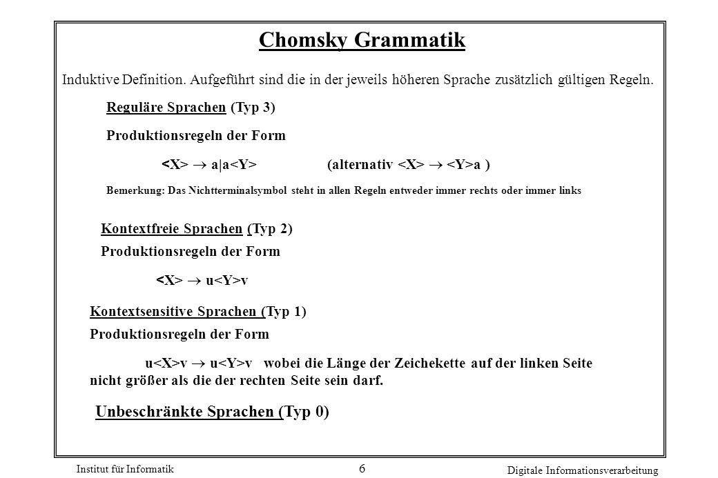 Chomsky Grammatik Unbeschränkte Sprachen (Typ 0)
