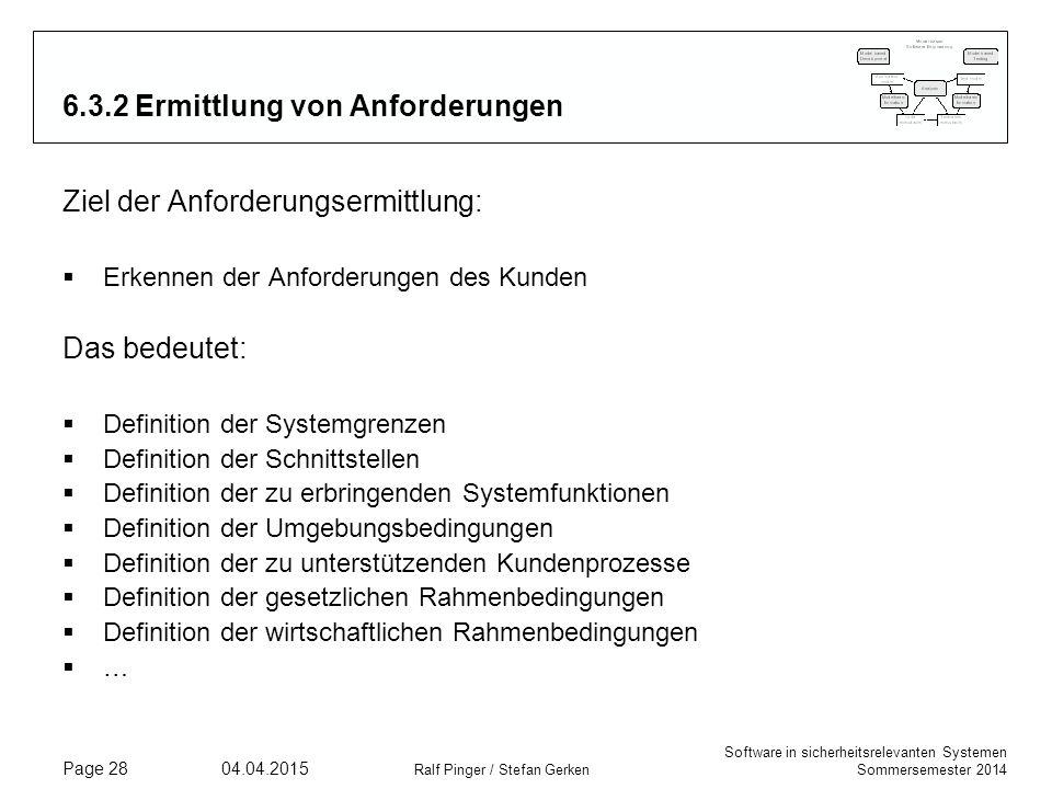 6.3.2 Ermittlung von Anforderungen