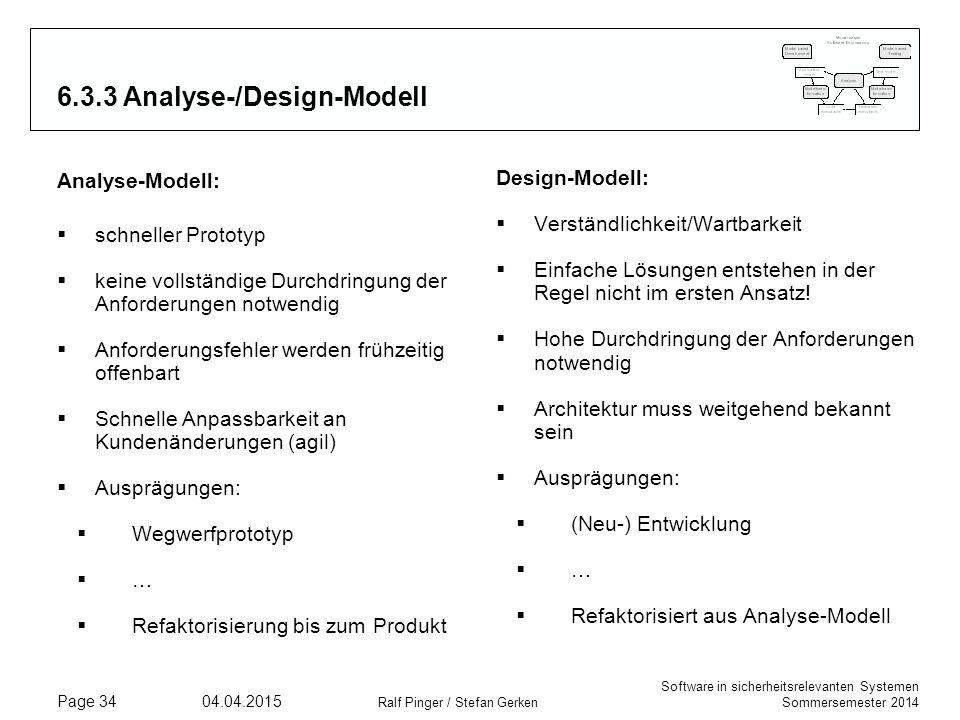 6.3.3 Analyse-/Design-Modell