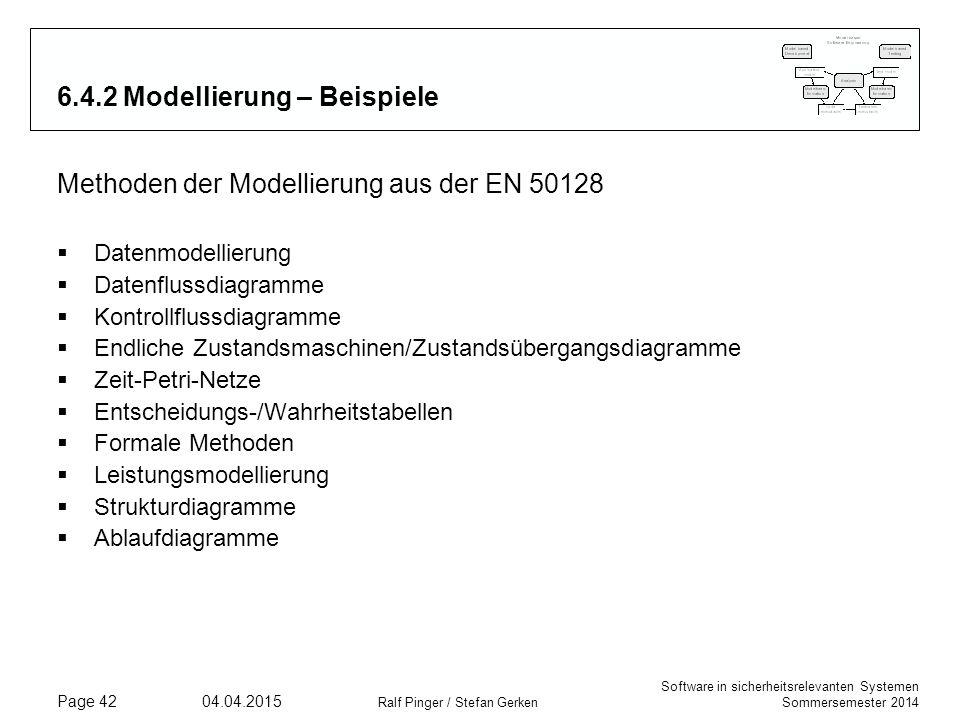 6.4.2 Modellierung – Beispiele