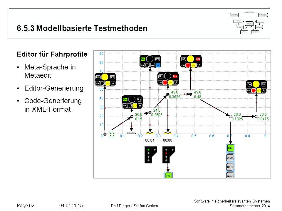 6.5.3 Modellbasierte Testmethoden